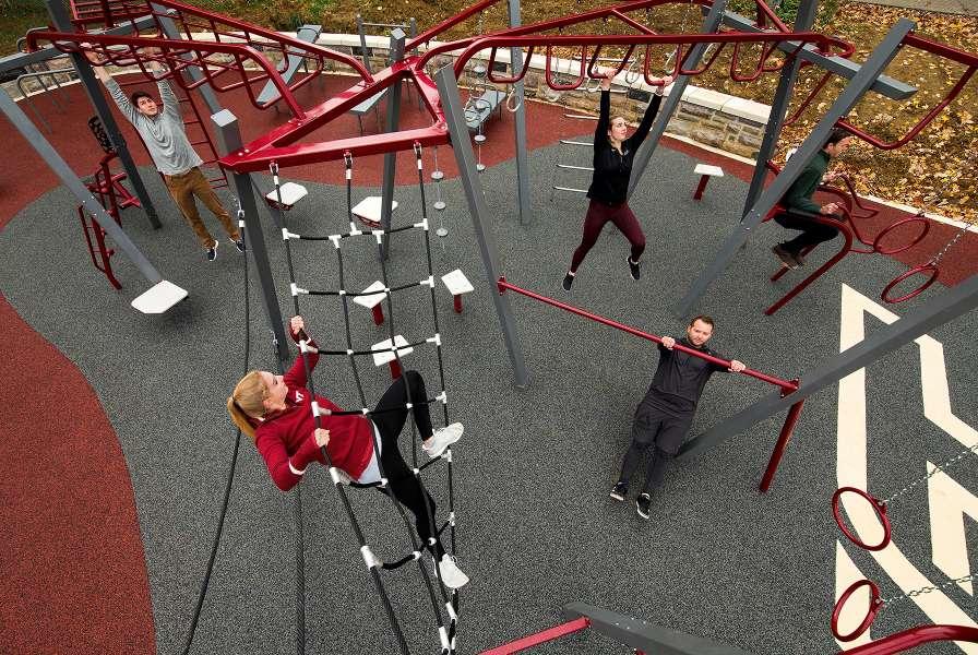 Group Workout At Va Tech