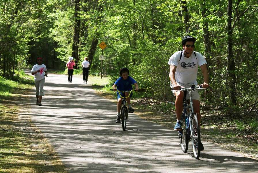 Wolf River Greenway Bicyclists