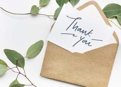Apprecation Thank You Blog