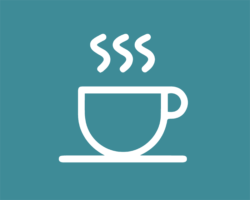 outline of coffee mug icon