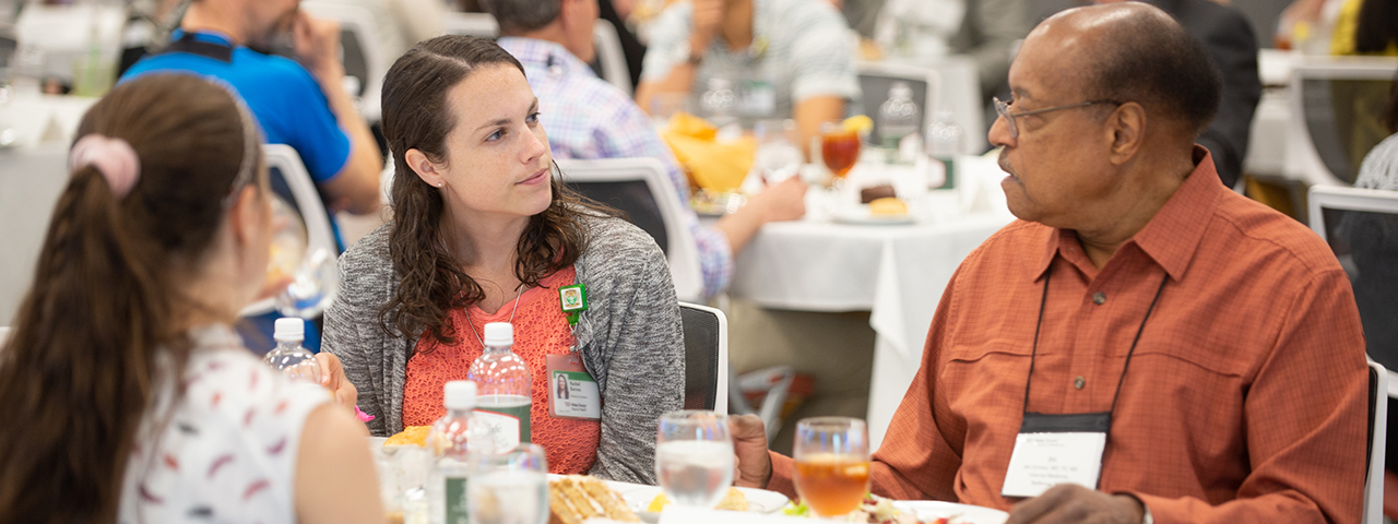 Wake Forest School of Medicine students and alumni during Alumni Weekend 2018
