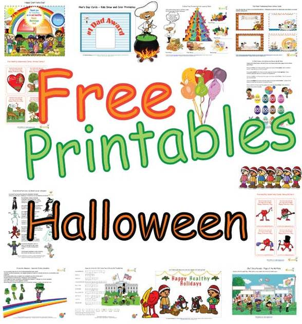 Kids Healthy Halloween Activity Pages Free Coloring Pages