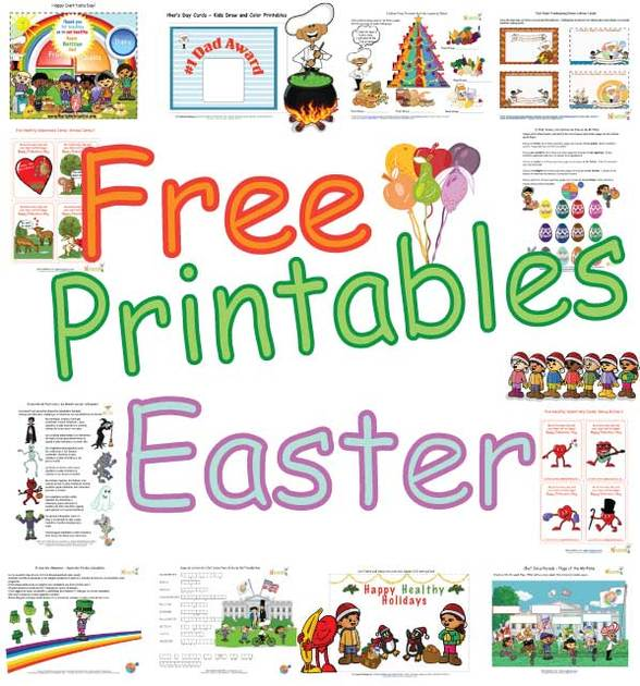 Cute Healthy Easter Activities for Kids- Printable Easter ...