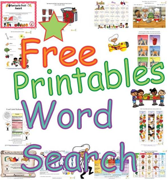 Free Kids Nutrition Word Search Puzzles- Fun Printable Food