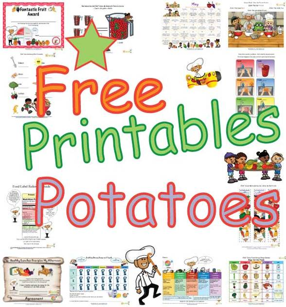 Types Of Potatoes Activities For Kids Free Printable