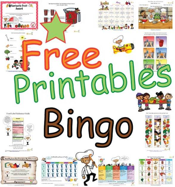 photograph relating to Printable Bingo for Kids named Meals Neighborhood Bingo Playing cards For Children - Entertaining and Healthful Sport