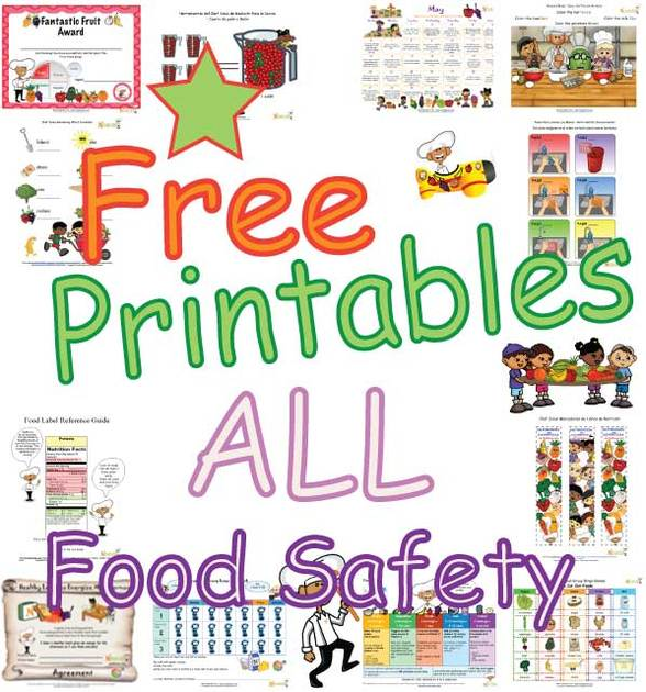 picture relating to Free Printable Food Safety Signs identified as Food items Stability For Small children In just The Kitchen area, Ingesting Out, Cooking And