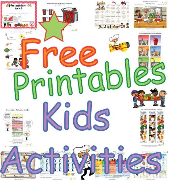 Kids Healthy Activity Fun Nutrition Themed Arts And Crafts For