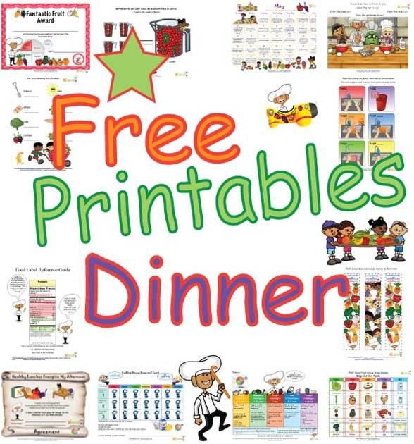 Healthy Dinner Printables Teaching Children The