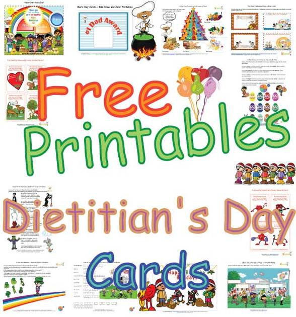 cute dietitians day cards for kids 39 healthy foods 39 coloring pages and printable cards. Black Bedroom Furniture Sets. Home Design Ideas