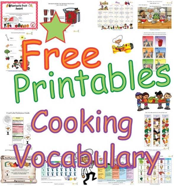 Kids Cooking Classroom Activities Kitchen Vocabuary Words For Children