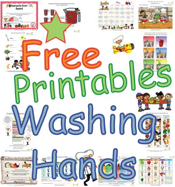Hand Washing Printables and Worksheets For Children