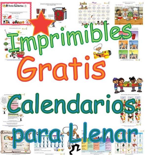 Calendario Para Ninos De Kinder.Calendario Para Colorear Y Escribir Para Ninos Actividades