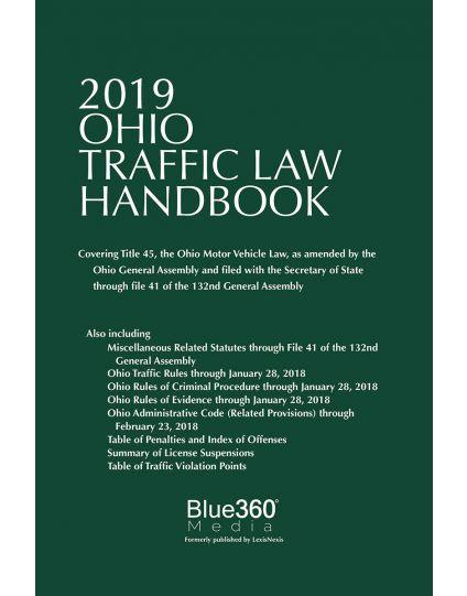 Ohio Traffic Law Handbook - 2019 Edition