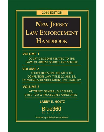 New Jersey Law Enforcement Handbook - 2019 Edition