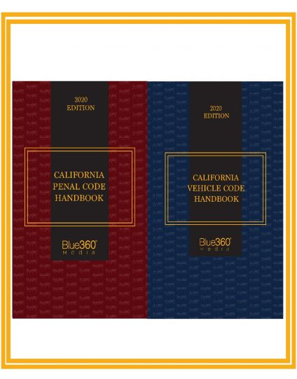 California Penal Code Handbook and California Vehicle Code Handbook Combo - 2020 Edition Pre-Order