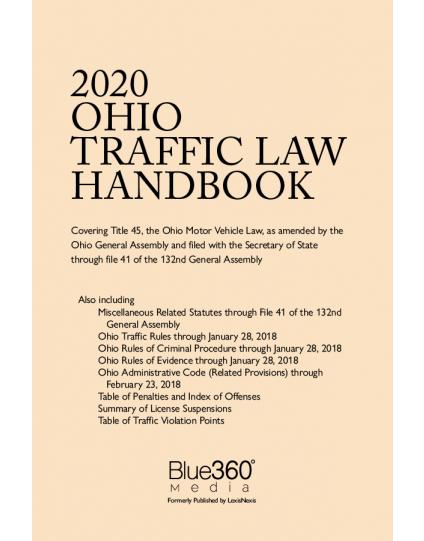 Ohio Traffic Law Handbook 2020 Edition - Pre-Order