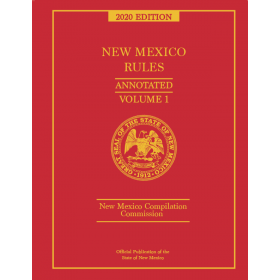 Official New Mexico Rules Annotated 2020 Pre-Order