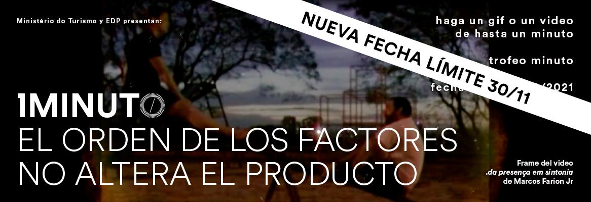 MINUTO EL ORDEN DE LOS FACTORES NO ALTERA EL PRODUCTO