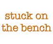Stuck on the bench (Soccer)