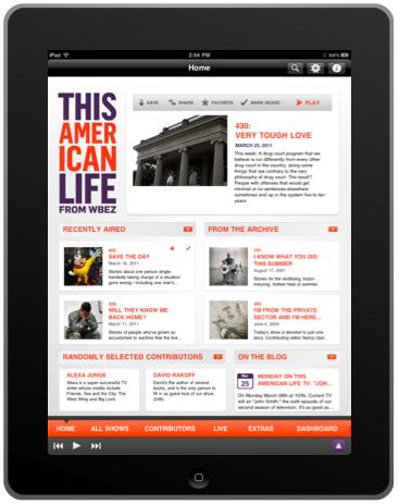 PRX » This American Life I Phone App
