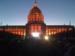Caption: Civic Center in orange lights for World Series, Credit: Martina Castro