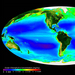 Caption: The global biosphere is a map of chlorophyll on land and in the ocean., Credit: SeaWiFS Project/NASA.