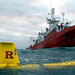 """Caption: """"RU27 just before recovery with the Investigador in the background. , Credit: Dan Crowell."""