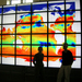 Caption: The viz wall at MIT, a programmable canvas used to examine large images and movies of the Earth. , Credit: Mick Follows.