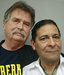 Caption: Paul Crowley (L) and his friend Anthony Bravo Esparza (R)