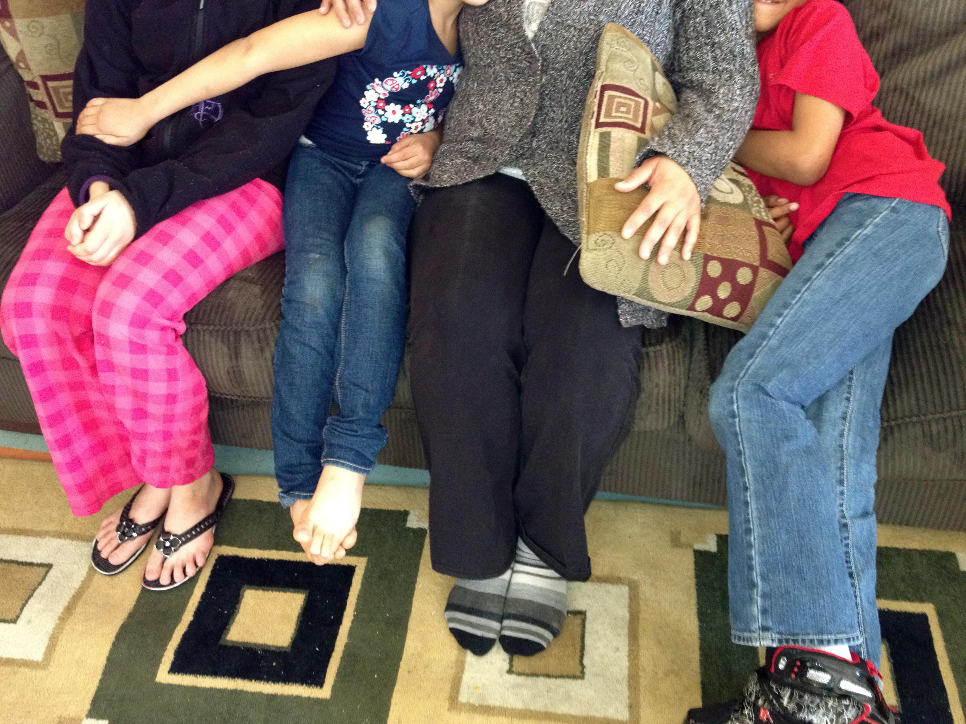 Caption: Wanda and her family, Credit: Joanna Solotaroff