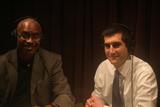 Caption: Dr. Joe Marshall and David Onek in studio.