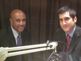 Caption: Anthony Batts and David Onek in studio.