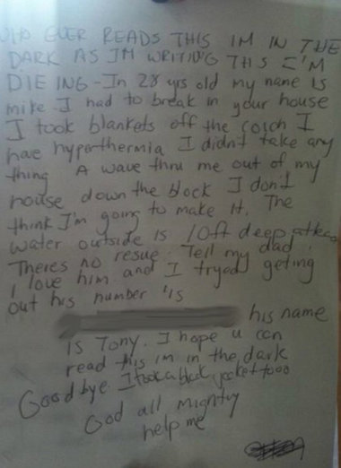 Caption: Mike Iann's unsent death letter to his father., Credit: NJ.com