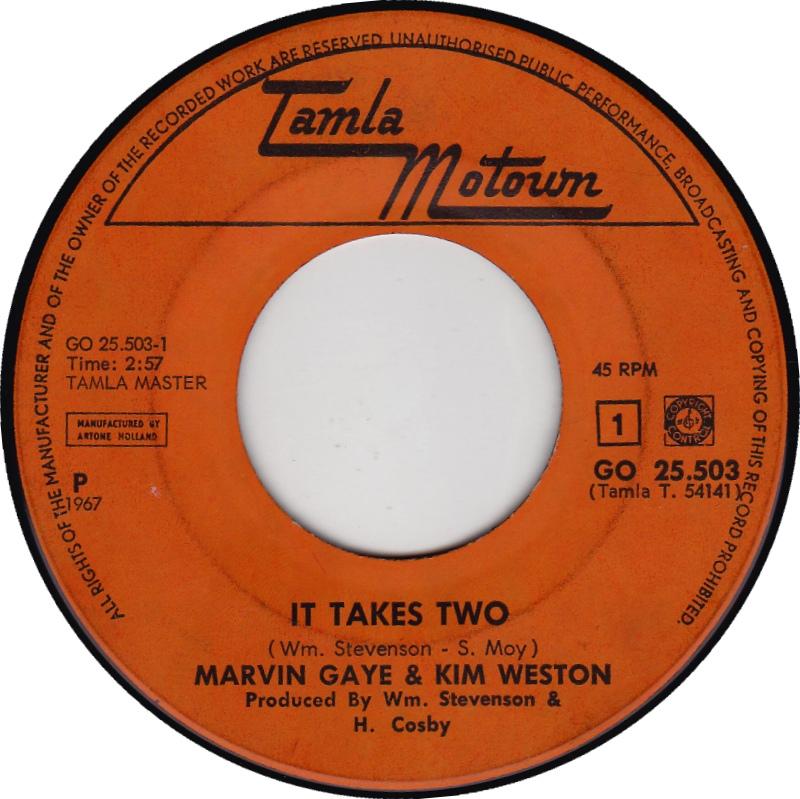 "Caption: Marvin Gaye & Kim Weston's ""It Takes Two"""