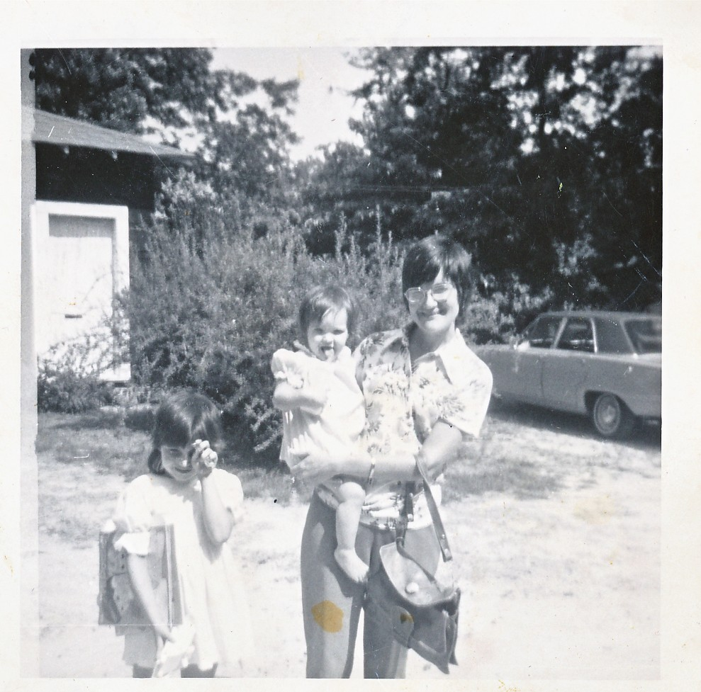 Caption: Megan as a Baby with her Mother and Sister, Credit: Elbert Jackson