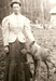 Caption: Laura with pet moose , Credit: Cook County Historical Society