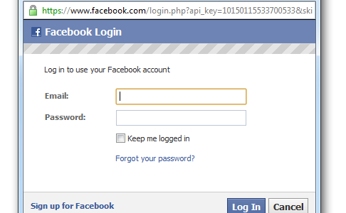 Caption: Is it safe to log in with Facebook? That depends.