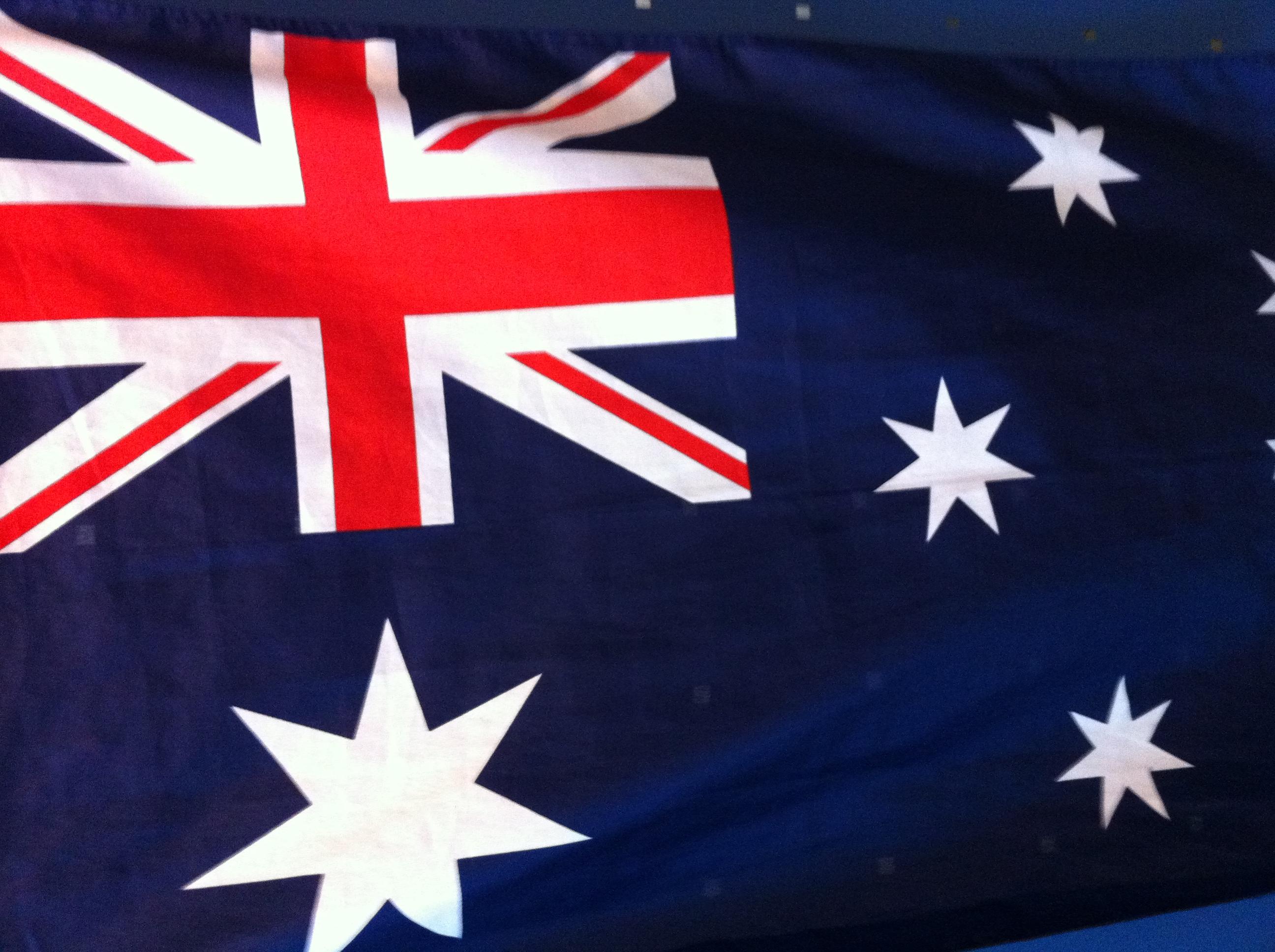 Caption: Australian flag