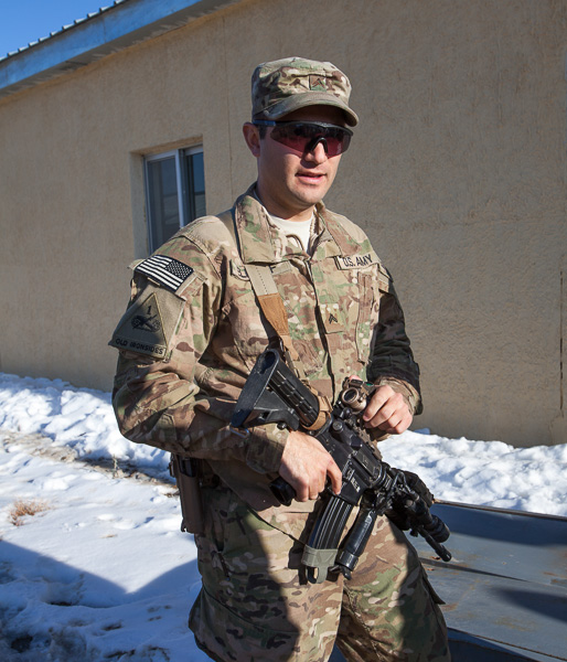 Caption: Corporal Dan Elenhof, Credit: Jake Warga