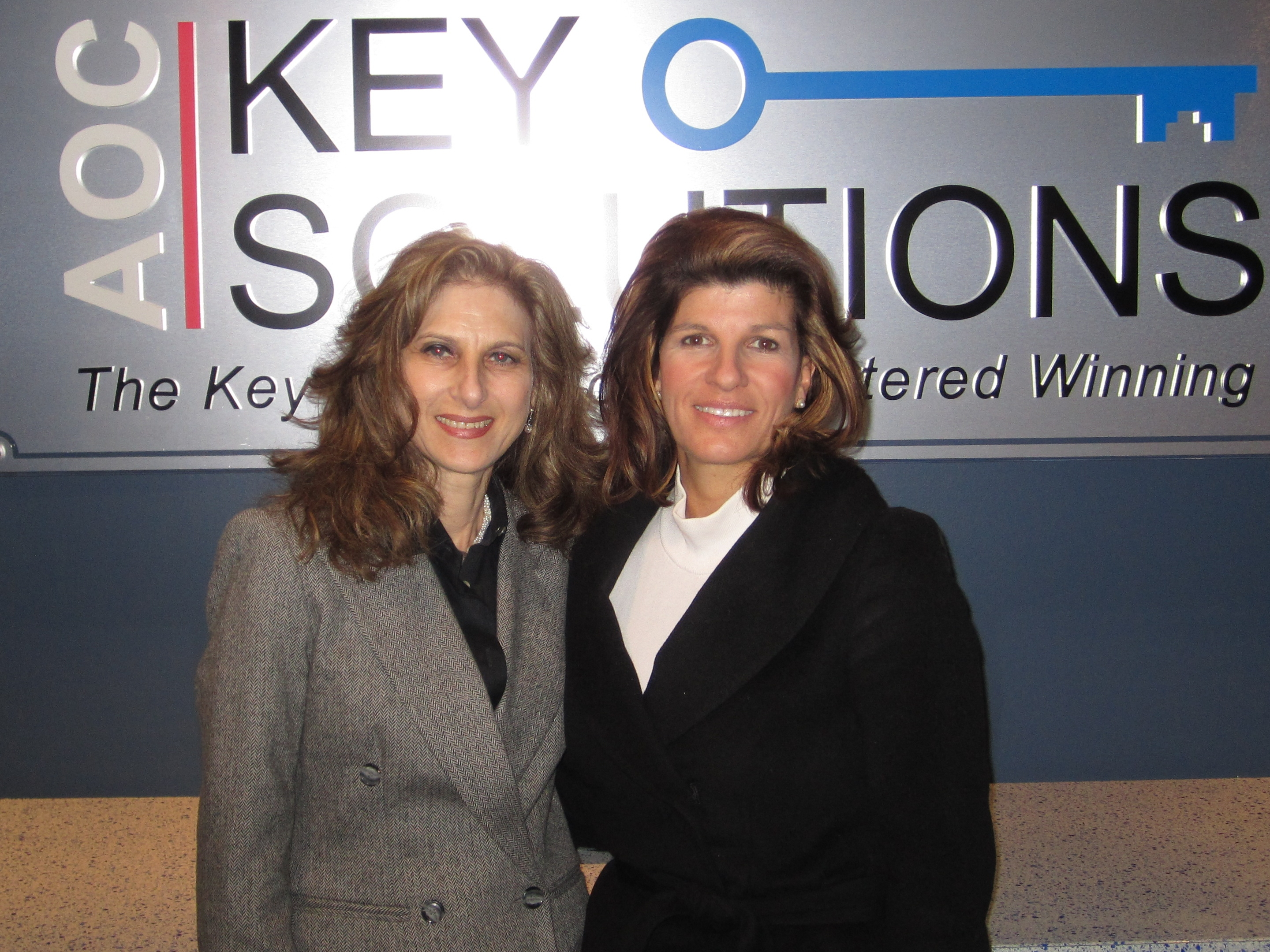 Caption: Joan Michelson  of GCR (l) and Hilary Fordwich of KSI, Credit: Joan Michelson