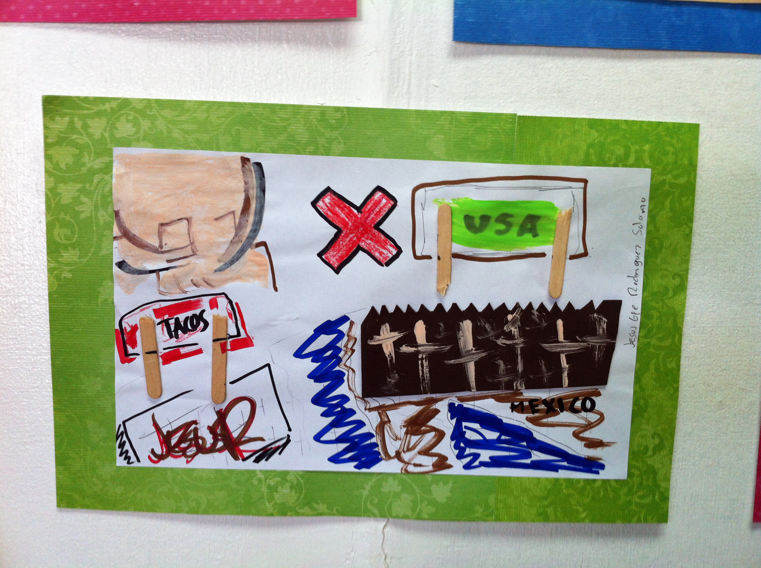 Caption: A drawing by the American child of deported parents in Tijuana., Credit: Beth Caldwell