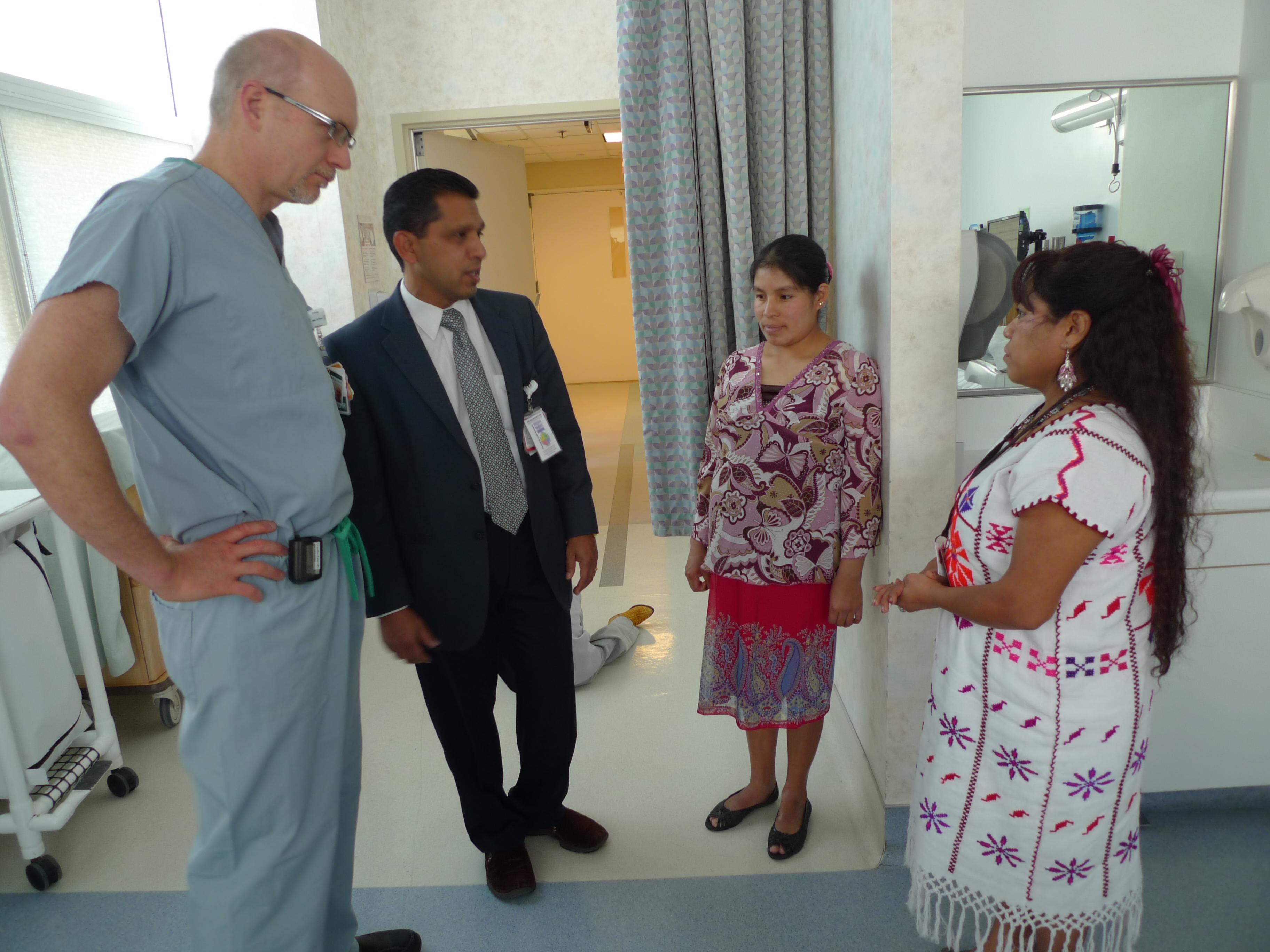 Caption: Interpreters help doctors communicate with patients., Credit: Lisa Morehouse
