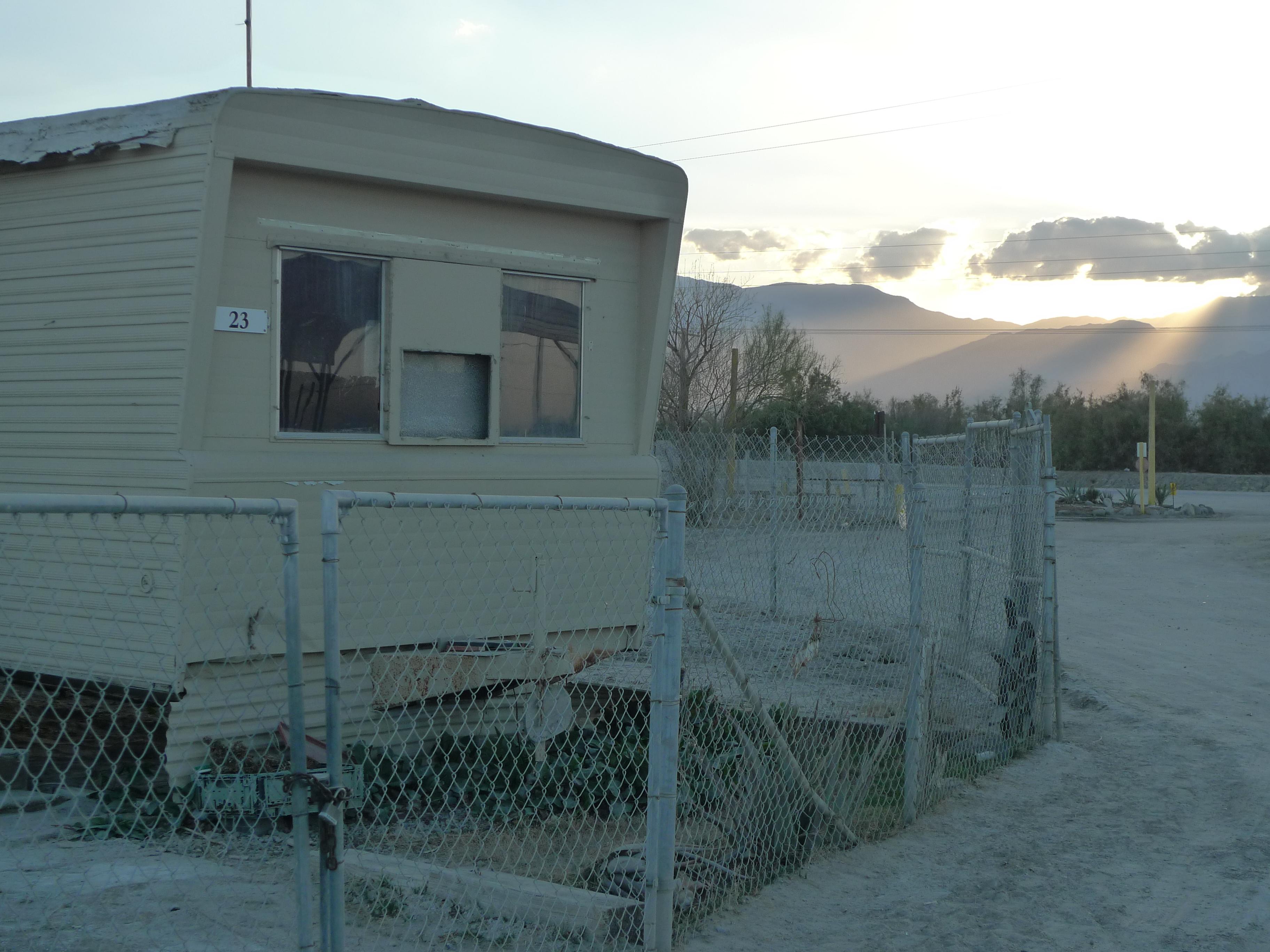 Caption: Mobile home park in Eastern Coachella., Credit: Lisa Morehouse