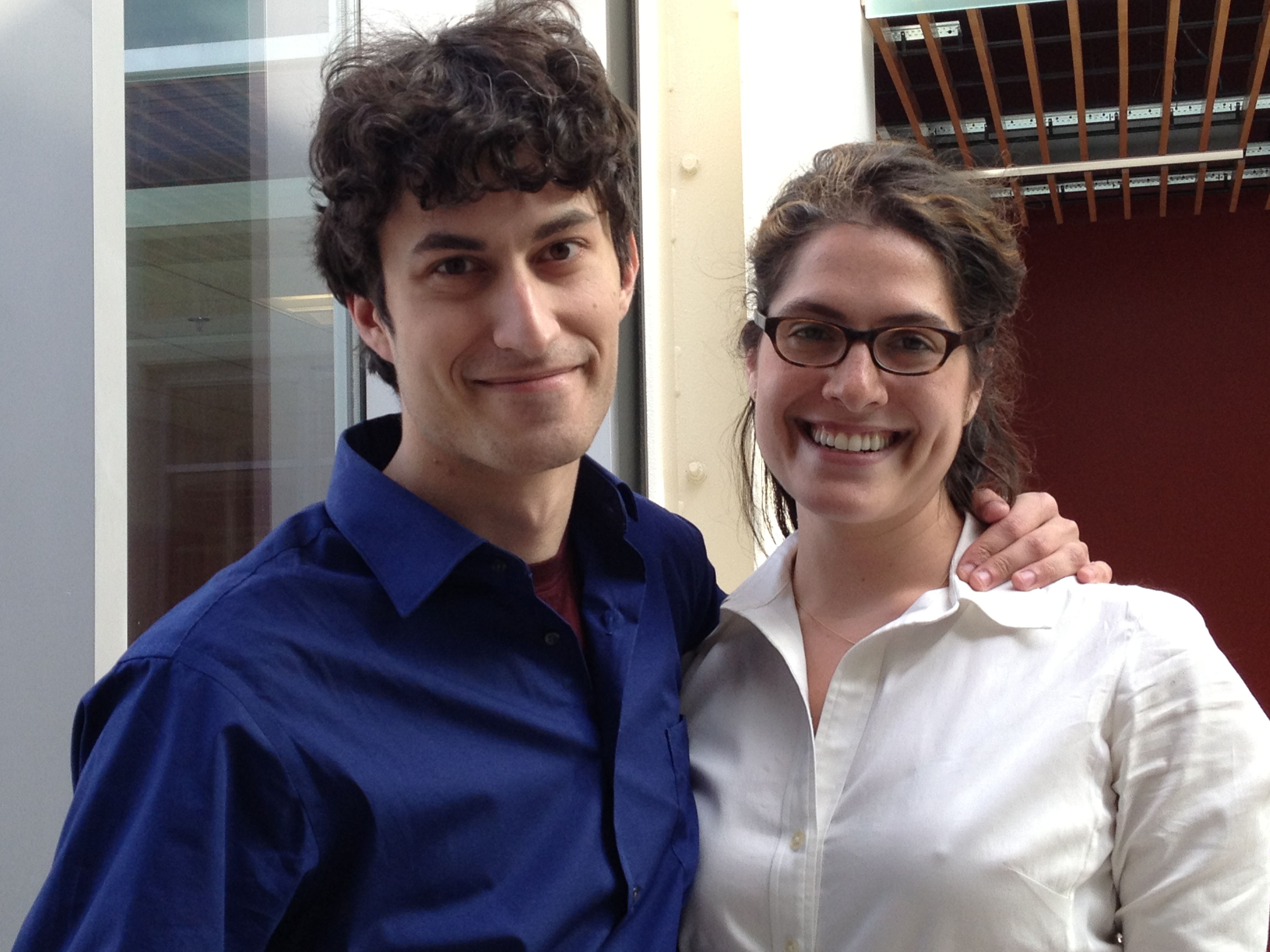 Caption: Sarah and Peter are about to begin their third year of med school., Credit: Kristin Gourlay