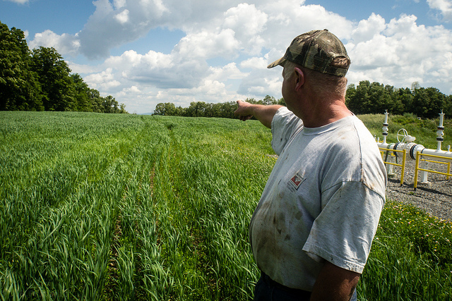 Caption: Pennsylvania farmer sees fracking's effects on farms., Credit: Credit Under CC license from Flickr user Public Herald