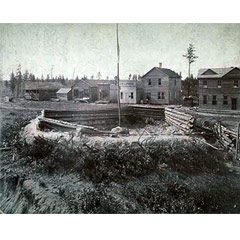 Caption: General view of Cass Lake, 1900