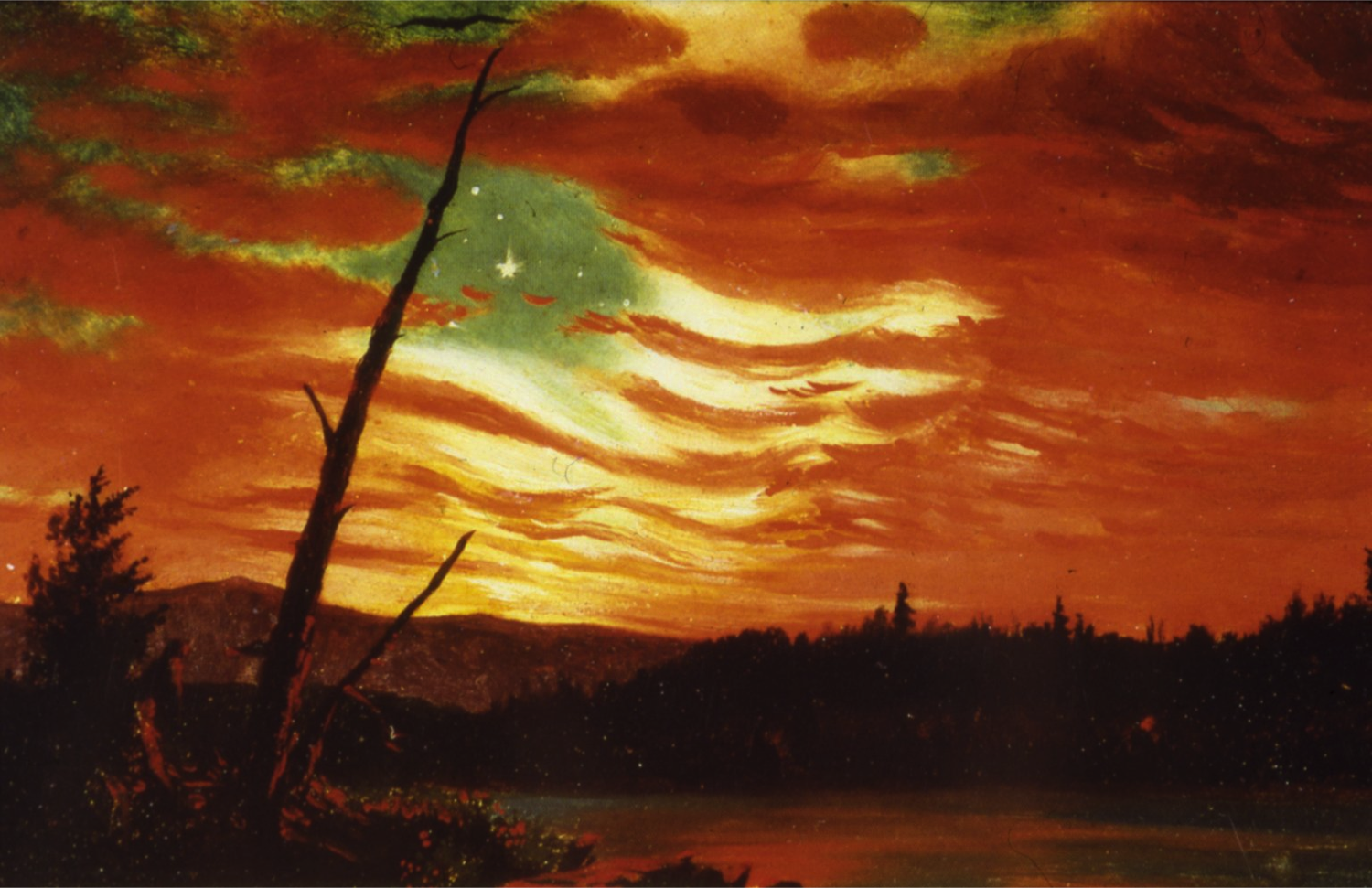"""Caption: Frederic Church, """"Our Banner in the Sky"""" (1861)"""