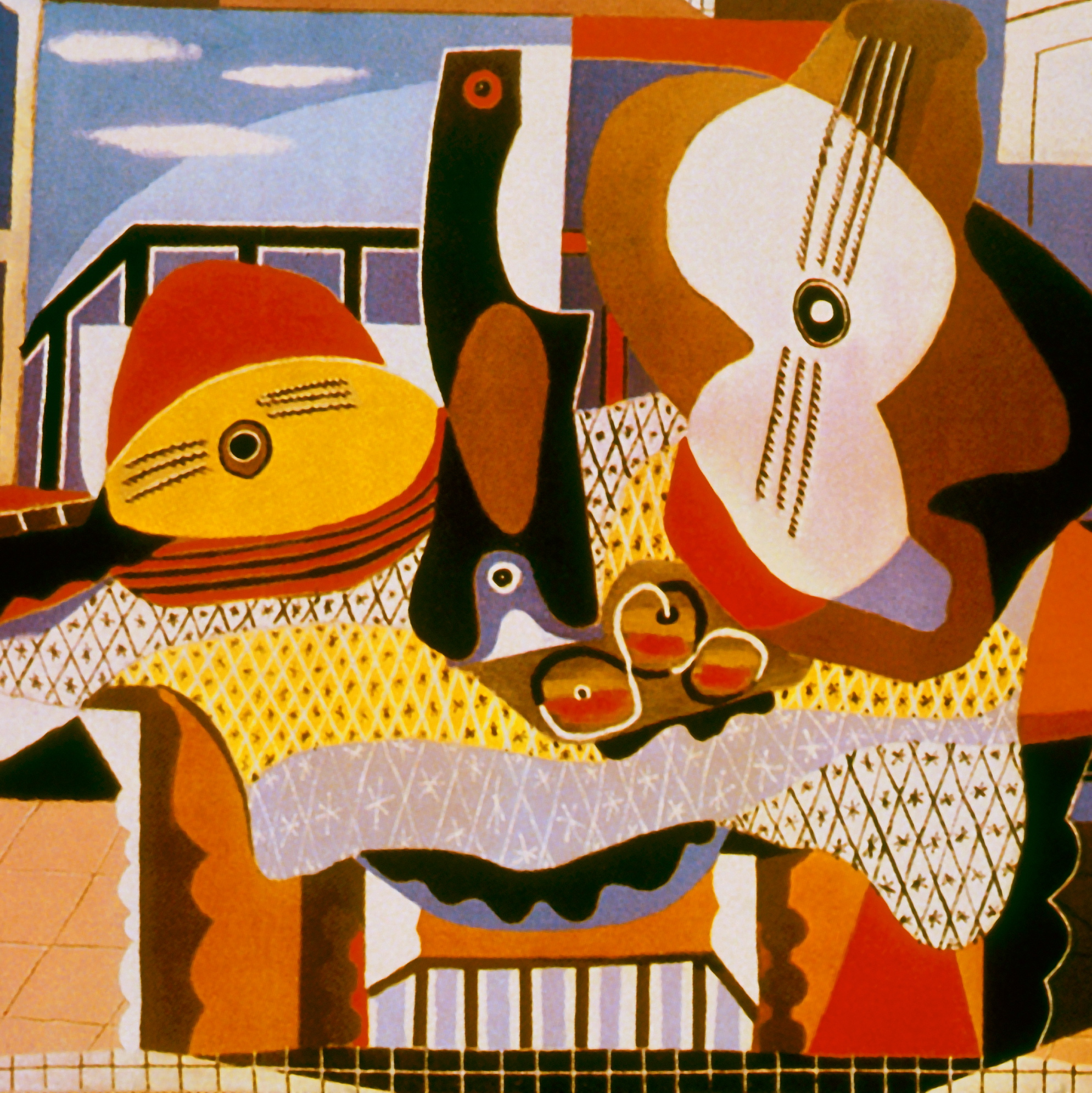 Caption: Mandolin & Guitar, Credit: by Pablo Picasso