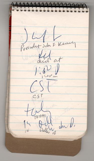 Caption: Correspondent Sid Davis' Notebook